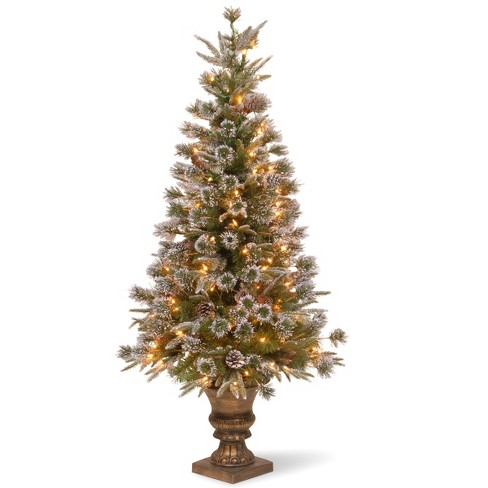 National Tree Company 4ft Liberty Pine Artificial Pencil Tree 100ct Clear - image 1 of 1