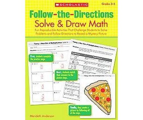 Follow-the-Directions: Solve & Draw Math (Workbook) (Paperback) (Merideth Anderson) - image 1 of 1