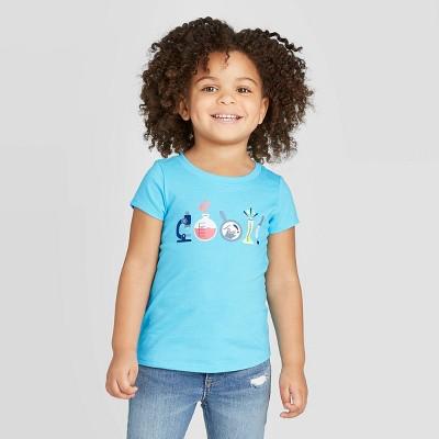 Toddler Girls' Short Sleeve 'Cool' Graphic T-Shirt - Cat & Jack™ Blue 12M