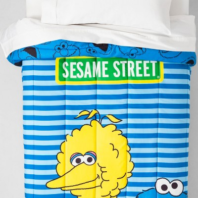 Sesame Street Full Color Block Comforter Blue