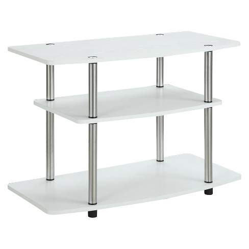 3 Tier Tv Stand White Convenience Concepts Target