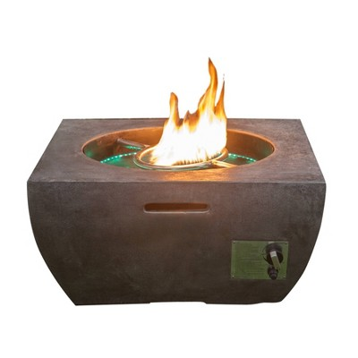20lb Gas Fire Pit with Fountain and LED Light Black - Infinity