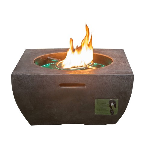 20lb Gas Fire Pit With Fountain And Led