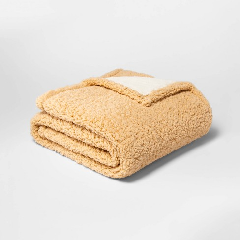 Solid Sherpa Throw Blanket - Threshold™ - image 1 of 1