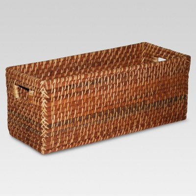 Rectangle Basket Brown (16 x6.5 )- Threshold™