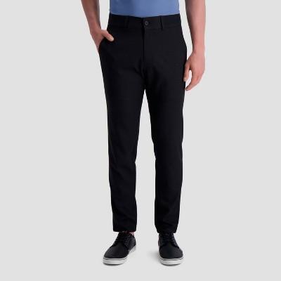 Haggar H26 Men's Slim Fit Skinny Suit Pants - Black