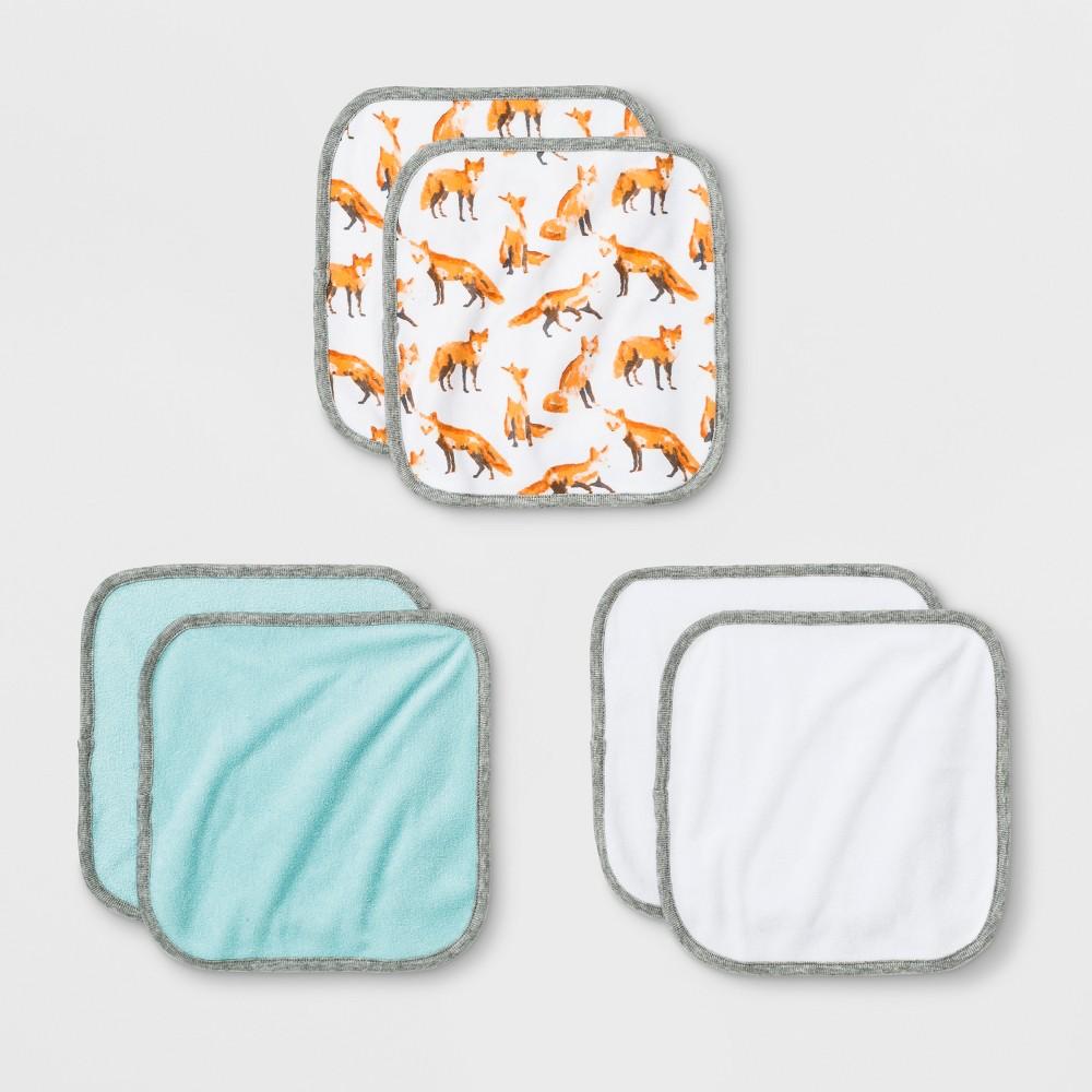 Image of Baby Boys' 6pk Washcloth Set - Cloud Island, Pastel Turquoise
