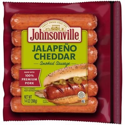 Johnsonville Jalapeno Cheddar Pork Smoked Sausage - 14oz