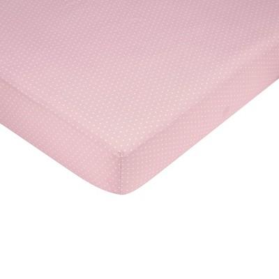 Sweet Jojo Designs Pink Mod Dots Fitted Crib Sheet - Mini Dot