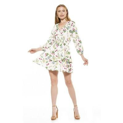 Alexia Admor Layla Raglan V Neck Tiered Ruffle Dress