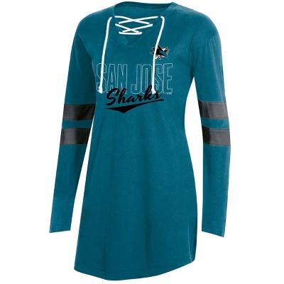 NHL San Jose Sharks Women's Laceup T-Shirt - L