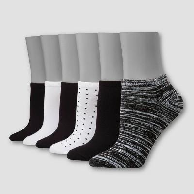 Hanes Premium 6 Pack Women's Comfort Soft Lightweight Low Cut Socks