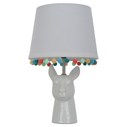 Llama Figural Table Lamp with Pom Pom Trim Shade (Includes CFL bulb) - Pillowfort™ - image 1 of 4