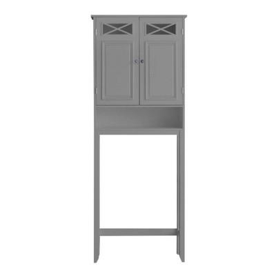 Dawson Over the Toilet Storage Gray - Elegant Home Fashions