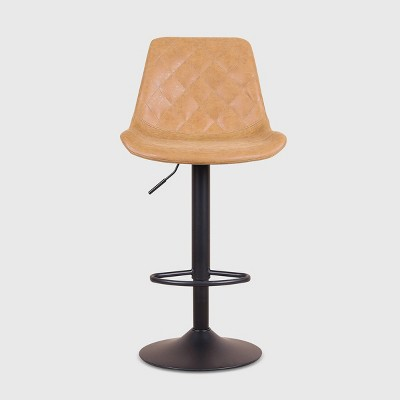 Set of 2 Poulson Faux Leather Barstools - RST Brands
