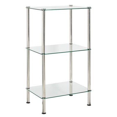 mDesign Floor Storage Tower Unit, 3 Tier