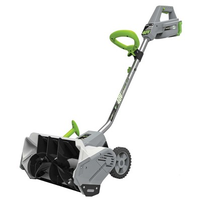 16  40 Volts, 144 Watts Cordless Lithium Snow Super Shovel - Gray - Earthwise