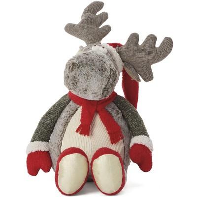 "Mina Victory Holiday Moose Plush Brown 22"" x 26"" Stuffed Animal"