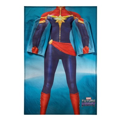 Avengers Mighty Captain Marvel Adult Comfy Throw