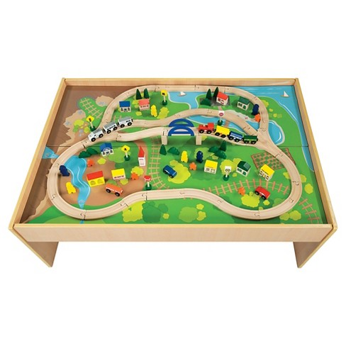 All Aboard Wooden Train Table - image 1 of 3