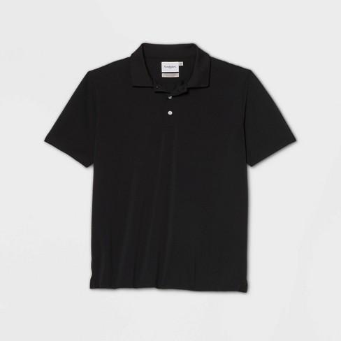 Men's Tall Regular Fit Short Sleeve Collared T-Shirt - Goodfellow & Co™ Black MT
