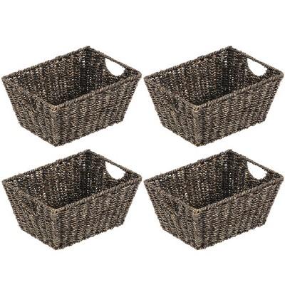mDesign Woven Nesting Home Storage Basket Bins, 4 Pack