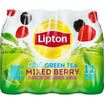 Lipton Diet Mixed Berry Green Tea - 12pk/16.9 fl oz Bottles
