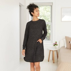 Women's Perfectly Cozy Long Sleeve Nightgown - Stars Above™