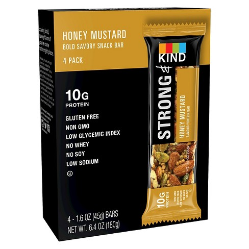 Strong & Kind Honey Mustard 4ct 6.4oz - image 1 of 1