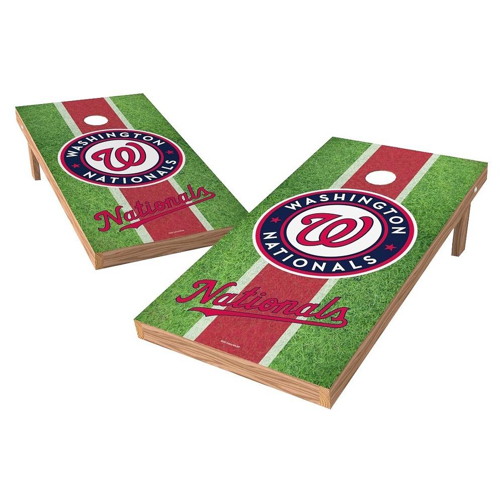 Washington Nationals Wild Sports XL Shield Field Cornhole Bag Toss Set - 2x4 ft.