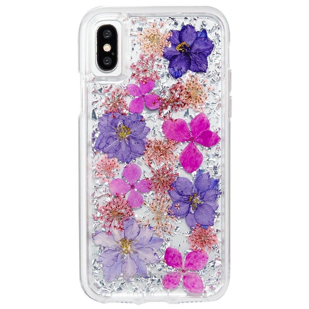 Case-Mate iPhone X Case Karat Petals - Purple The Case-Mate iPhone X Case by Karat Petals will captivate you with its beauty. The slim profile quickly slips in and out of pockets and keeps your phone safe for every incredible adventure. This case is truly one of a kind and will instantly brighten up your day! Color: Purple. Pattern: Floral.