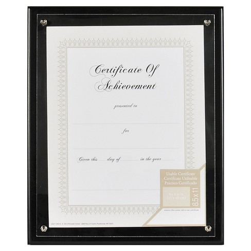 "Gallery Solutions 8.5""x11"" Frame - Black - image 1 of 4"