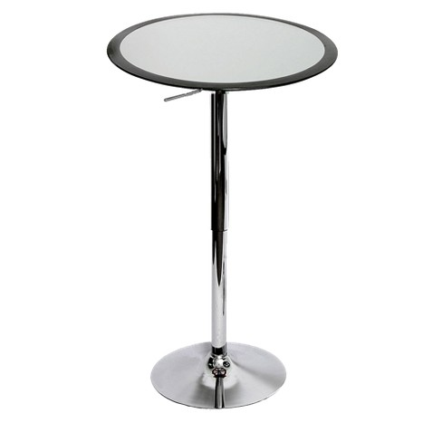 Bistro Bar Table Metal/Black/Silver - LumiSource - image 1 of 2