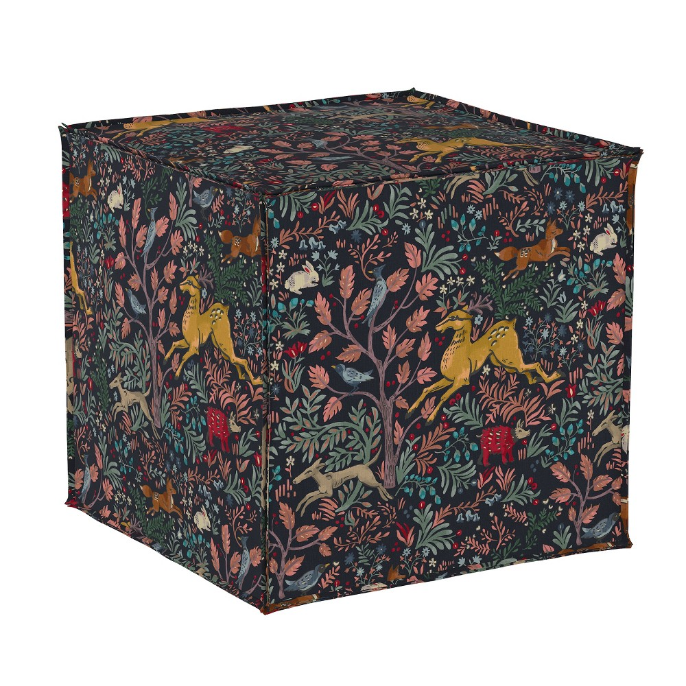 Ines French Seam Ottoman Animal Print - Cloth & Co.
