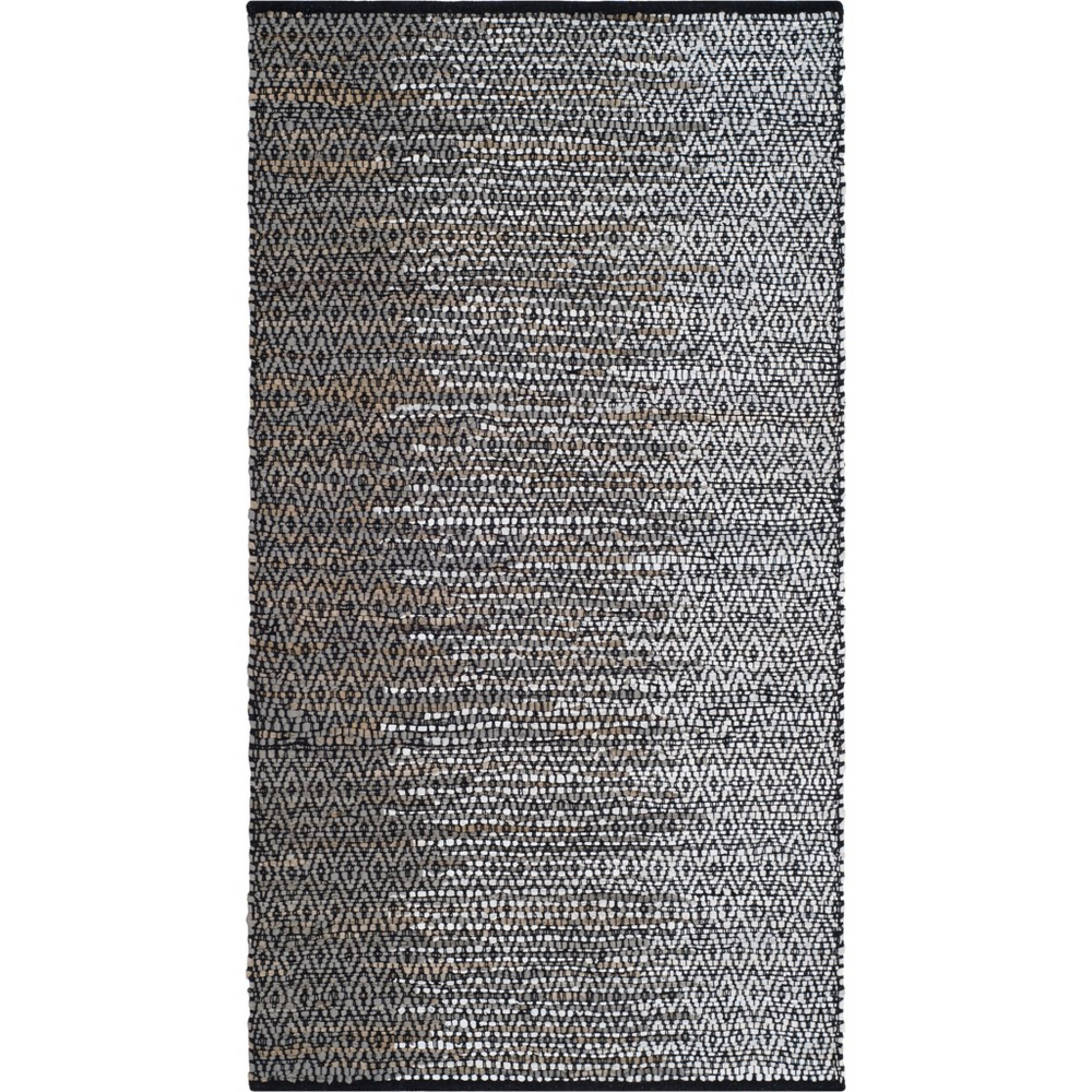 3X5 Geometric Woven Accent Rug Gray - Safavieh Best