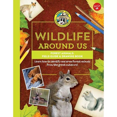 Forest Animals--Field Guide & Drawing Book - (Ranger Rick's Wildlife Around Us) (Hardcover) - image 1 of 1