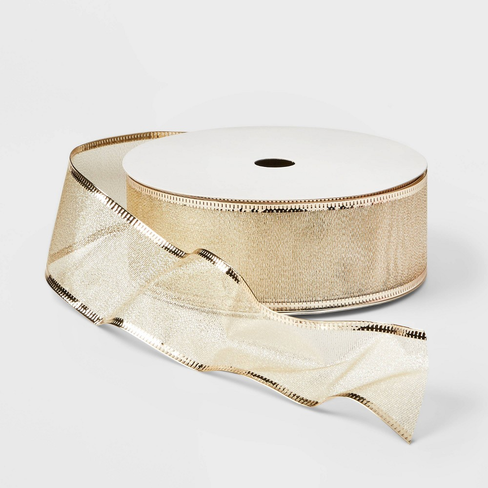 "Image of ""2"""" Ribbon Champagne 100ft - Wondershop , Gold"""