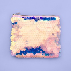 More Than Magic™ Large Cosmic Sequin Fringe Pencil Pouch