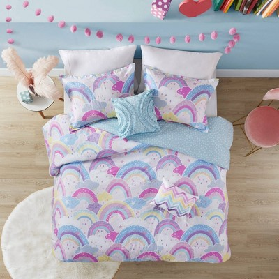 Alice Printed Rainbow Cotton Comforter Set
