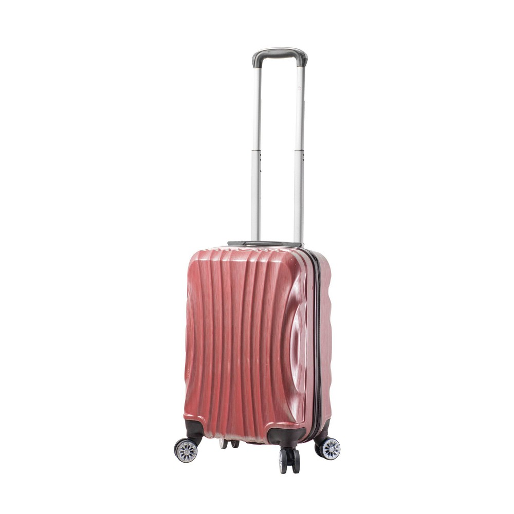 "Image of ""Mia Viaggi ITALY Bari 20"""" Hardside Carry On Suitcase - Red"""