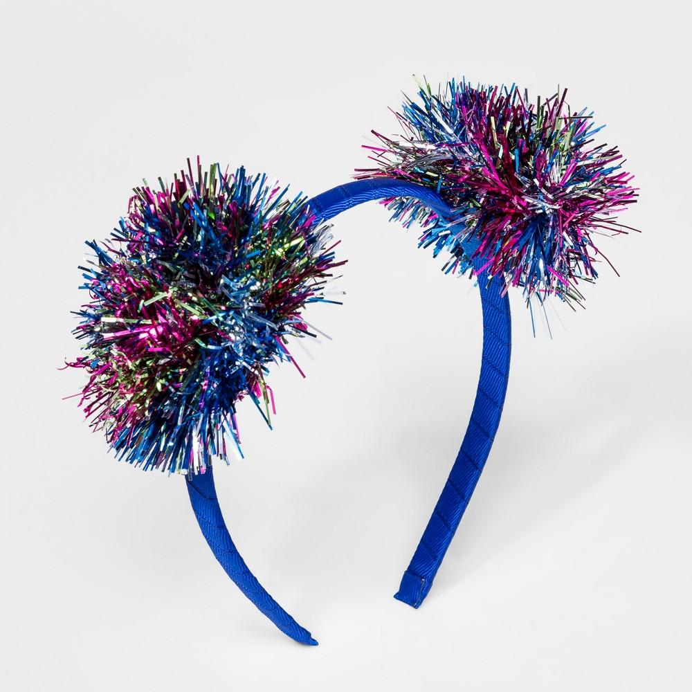 Girls' Tinsel Pom Ear Headband - Cat & Jack, Multi-Colored