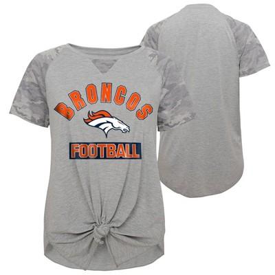 NFL Denver Broncos Women's Short Sleeve Front Knot T-Shirt