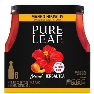 Pure Leaf Mango Hibiscus Herbal Tea - 6pk/ 16.9 fl oz Bottles