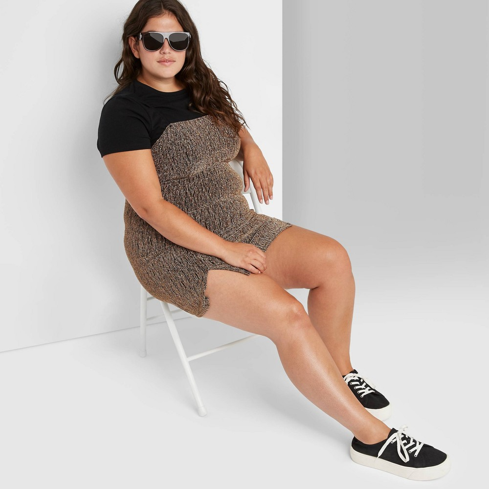 Promos Women's Plus Size Double Slit Bodycon Dress - Wild Fable™