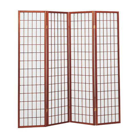 Room Divider 4 Panel Wood Cherry Home Source Industries