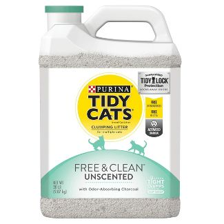 Tidy Cats Free & Clean Unscented Cat Litter - 20lb