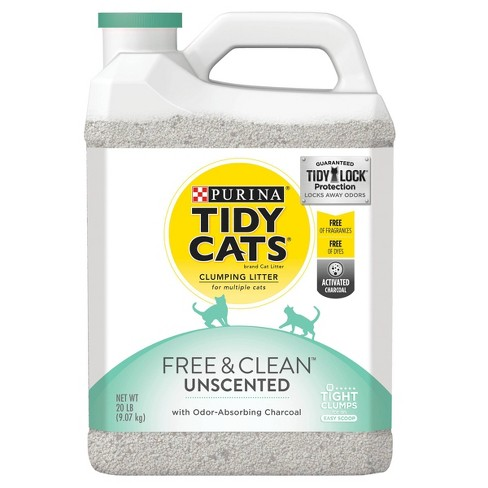 Purina Tidy Cats Clumping Cat Litter, Free & Clean Unscented Multi Cat Litter - 20lb - image 1 of 5
