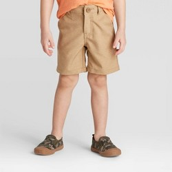 Toddler Boys' Quick Dry Chino Shorts - Cat & Jack™ Brown