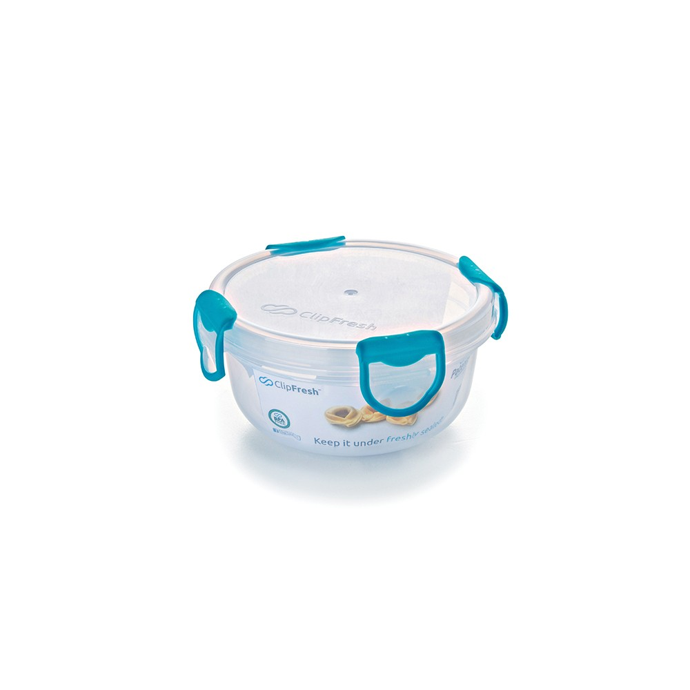 Image of ClipFresh 16oz Set of 6 Food Storage Container Teal (Blue)