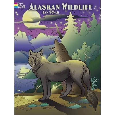 Alaskan Wildlife Coloring Book - (Dover Coloring Books) By Jan Sovak  (Paperback) : Target